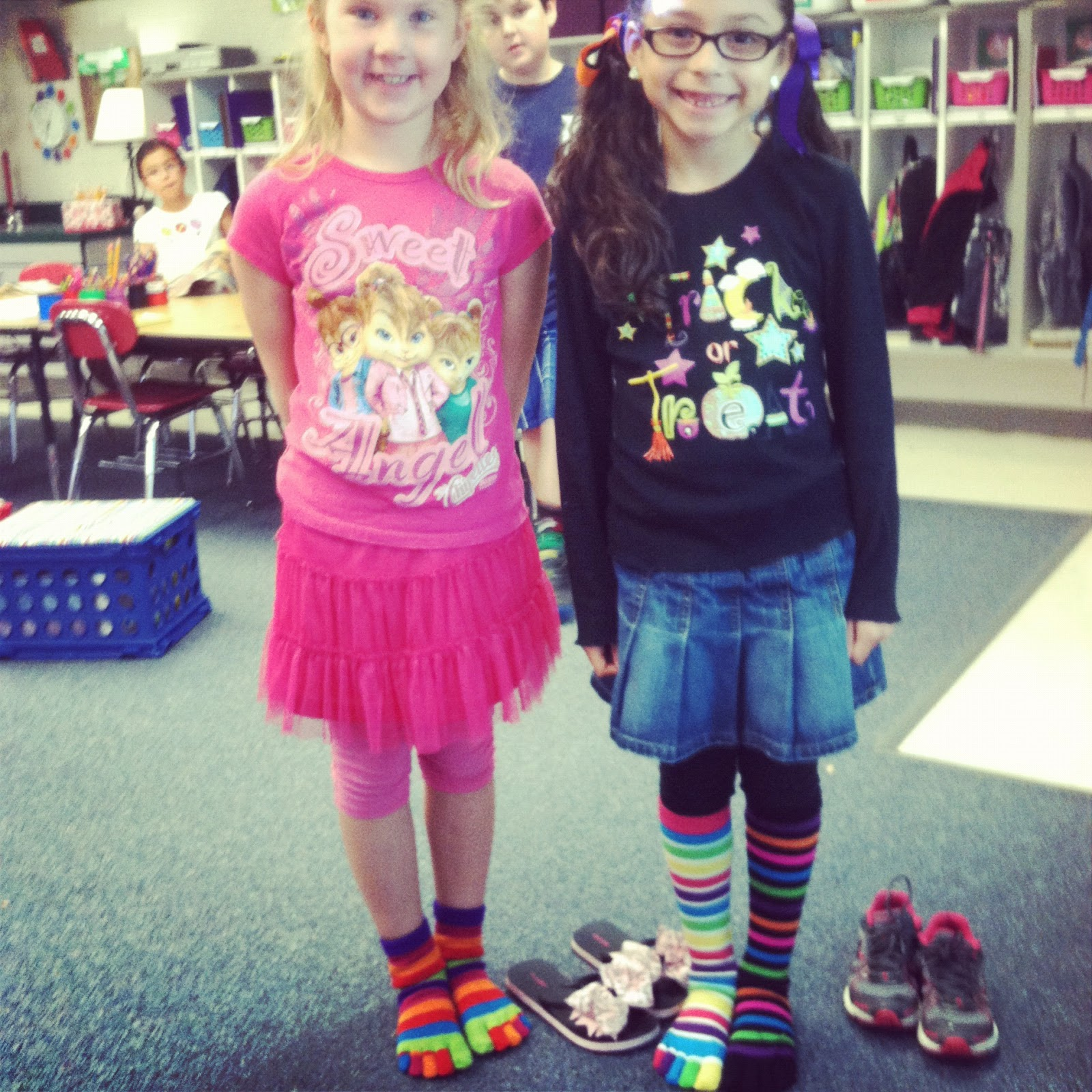 Mrs. Hurak's Second Grade: Crazy Sock Day for Red Ribbon Week!