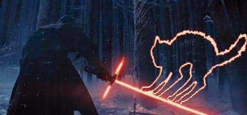 starwars light saber cat meme