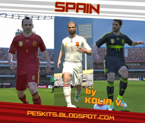 PES 2014 Spain WC 2014 + White Kits by KoliaV
