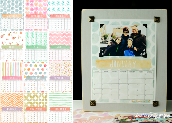 Calendar Board Printables : I should be mopping the floor free printable photo