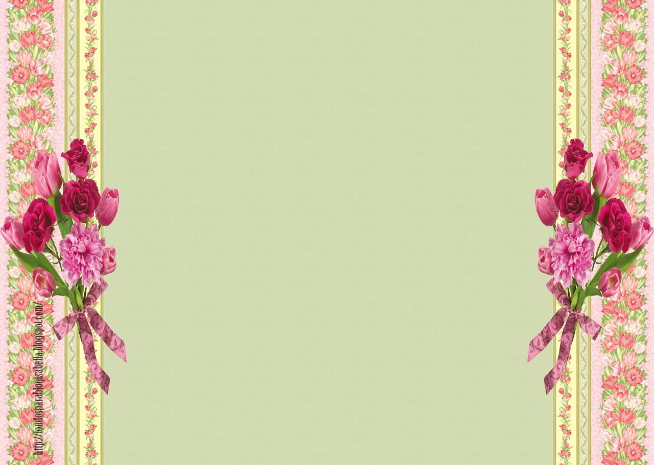Este fondo con bordes de flores