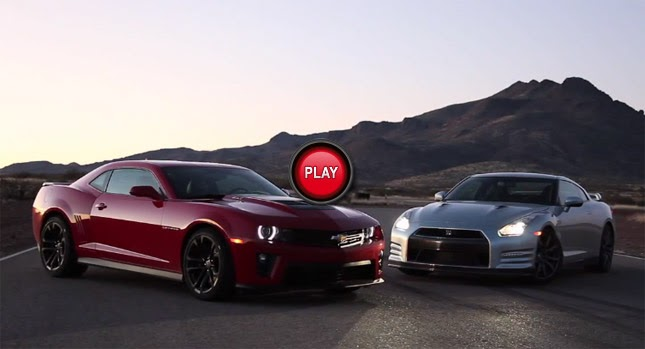 Video 2013 Chevrolet Camaro Zl1 Vs 2013 Nissan Gt R