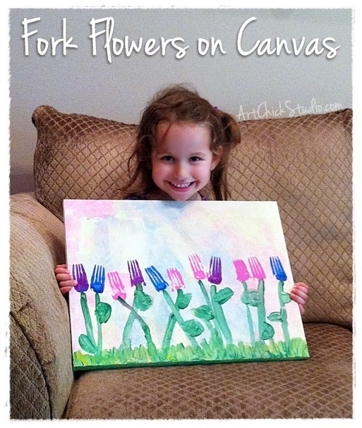 Fork Flowers on Canvas