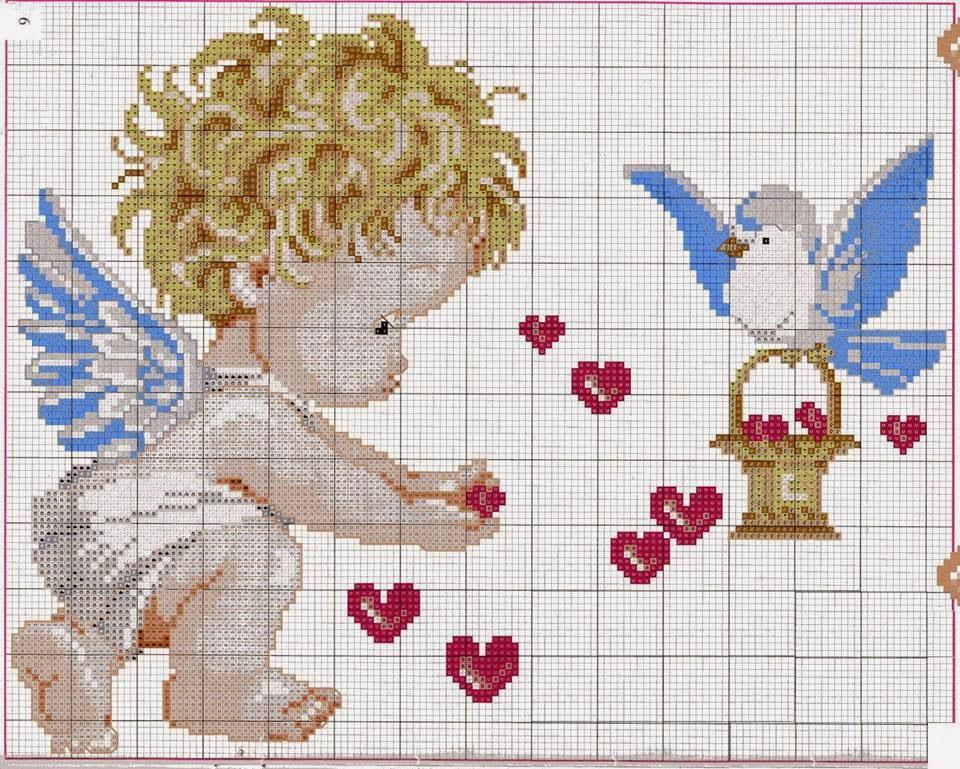 Punto croce per i bambini la mia passione aprile 2014 for Angioletti punto croce per bambini