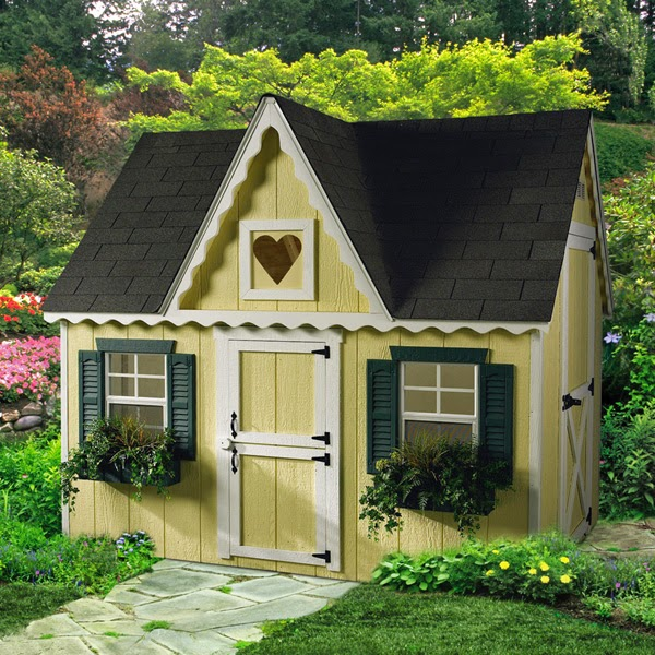 Wooden playhouse kits home depot for Outdoor playhouse kit