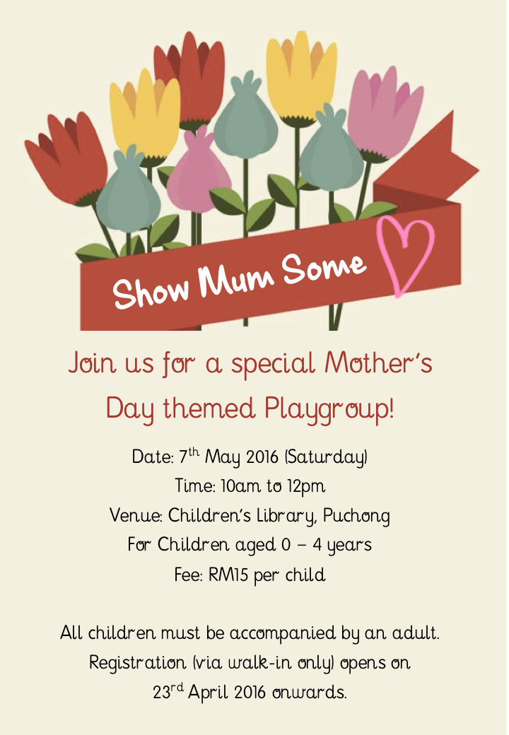Mother's Day Playgroup: 7 May 2016