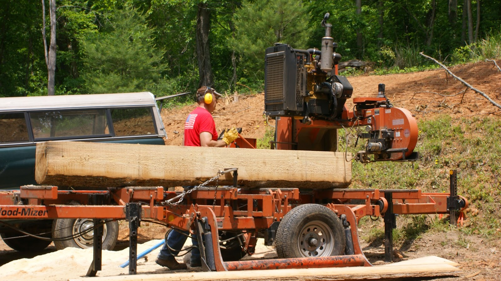 Milling lumber on site
