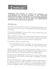 PROPUESTA del AYTO. sobre la DISTRIBUCIÓN de la JORNADA de 37'5 HORAS