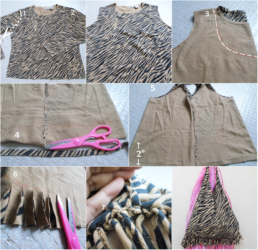 DIY: How To Make A Beach Bag From An Old Pullover {NO SEW} Rave ...