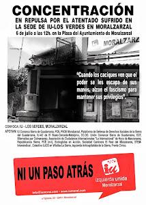 Izquierda Unida de Hoyo de Manzanares condena el atentado terrorista contra la Sede de IU de Moralz