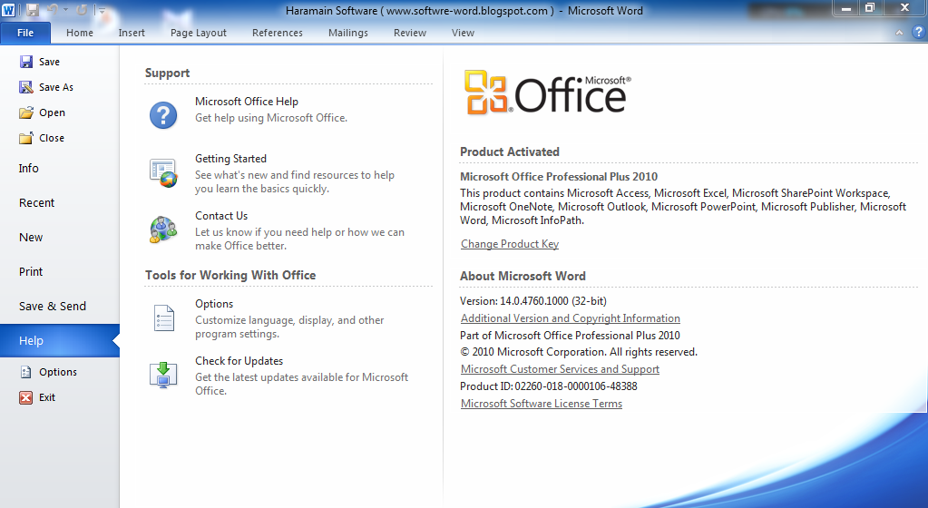 Download Microsoft Office 2010 Professional Plus (32Bit-64Bit) Product