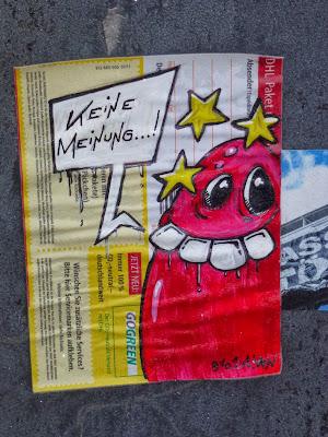 Sticker, Streetart. Urbanart