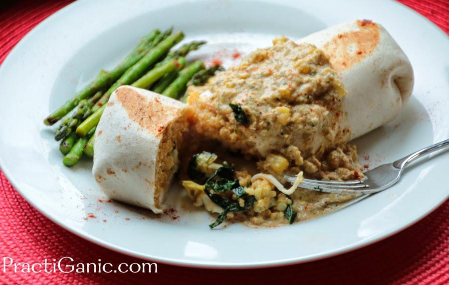 Artichoke, Kale  and Quinoa Burrito