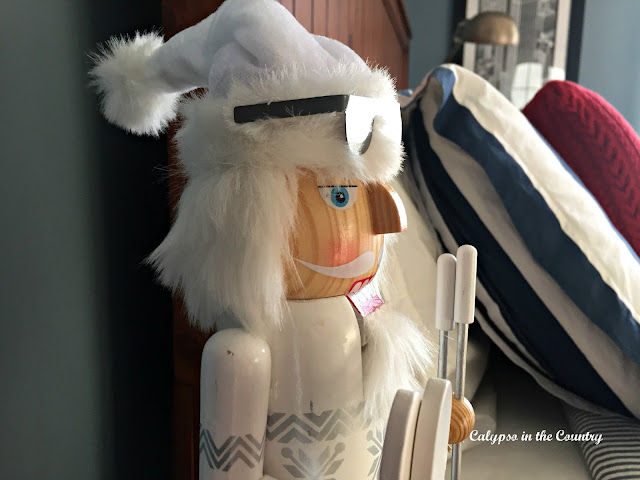 Skiing Nutcracker in Boys Bedroom