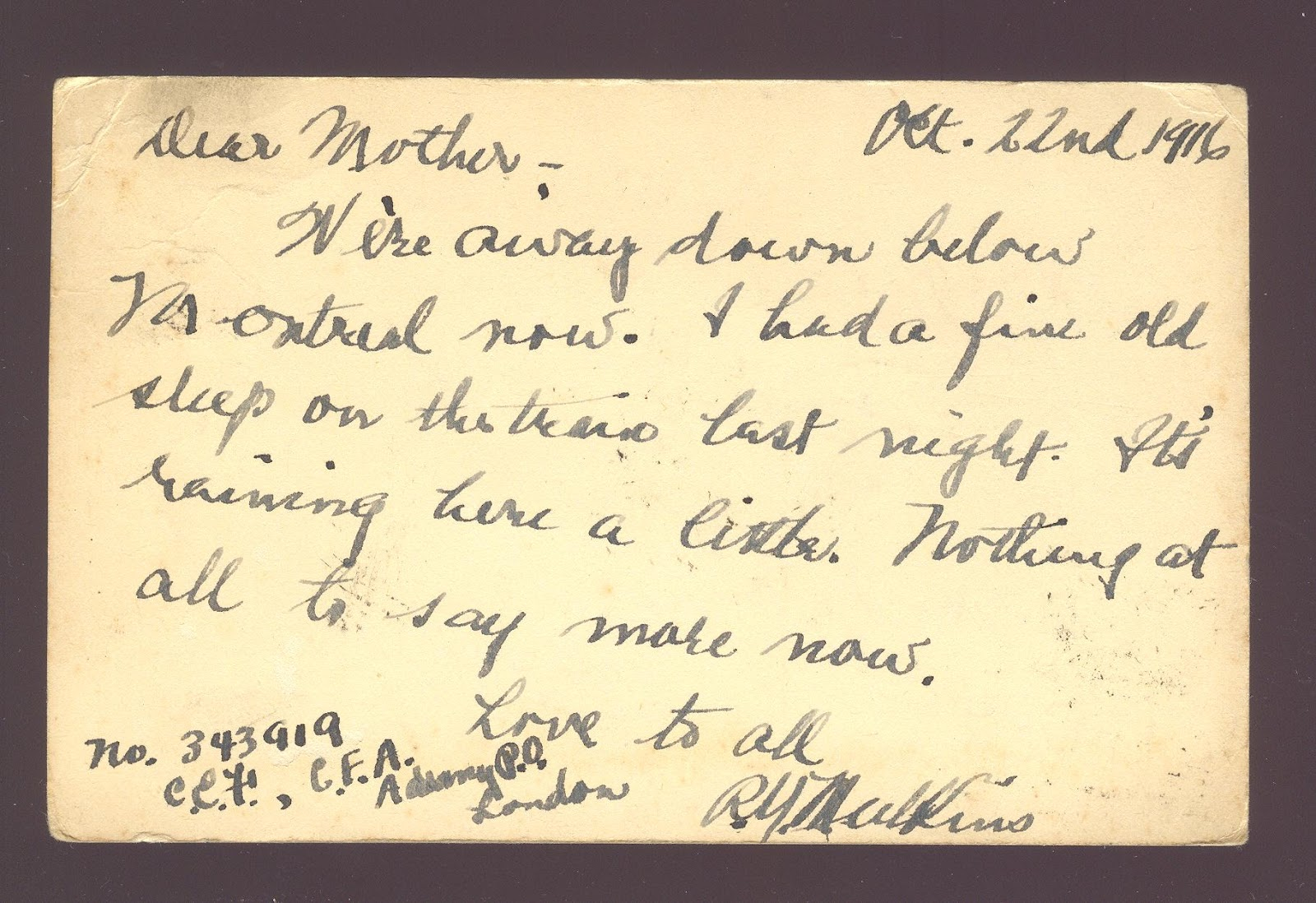 letter a wwi soldier s account In world war one  gallipoli memorial service on anzac day  soldiers and suffragettes  tito's secret bunker  unseen wwi photographs  poppy harvest   soldier's last letters home.