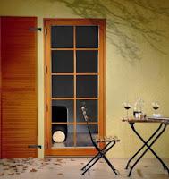 POL-SKONE - okno drewniane balkonowe EC 90 Plus z okiennicą