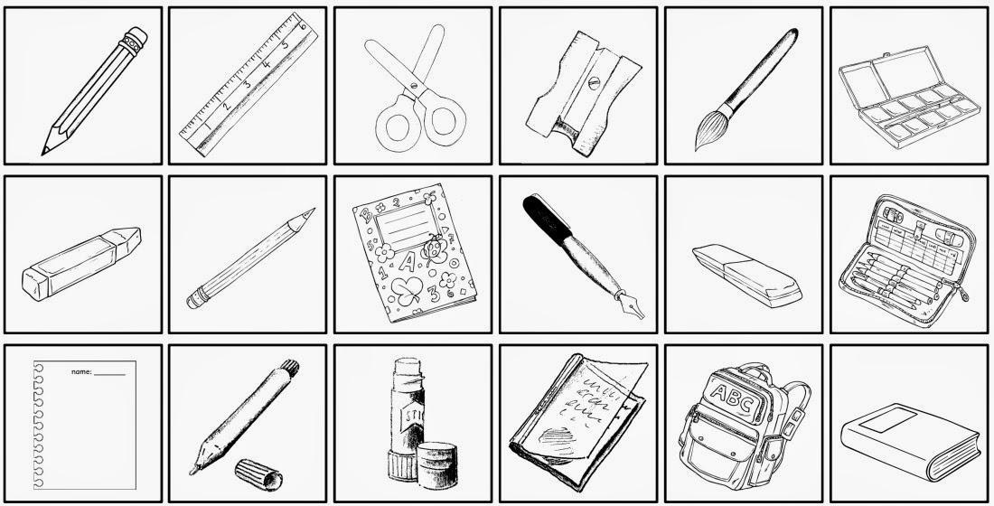 Arbeitsblatt Meine Schultasche : Ideenreise minibilder quot school things fürs heft etc