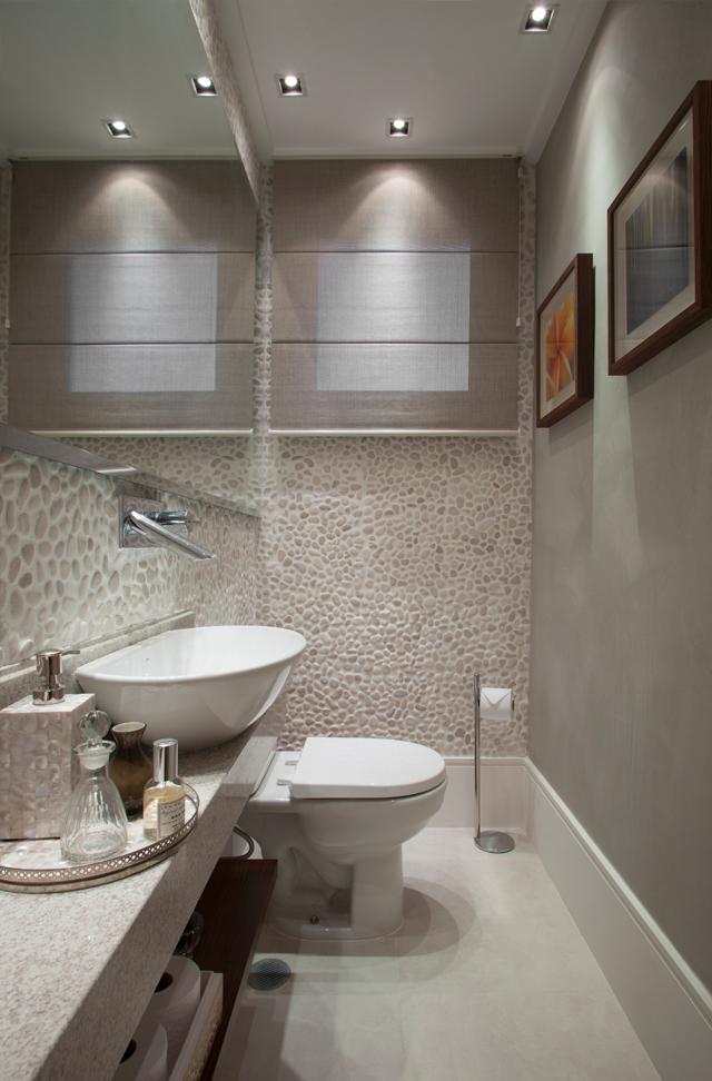 Lavabos cinzas modernos  veja modelos maravilhosos e dicas!  Decor Salteado -> Banheiro Pequeno Cinza