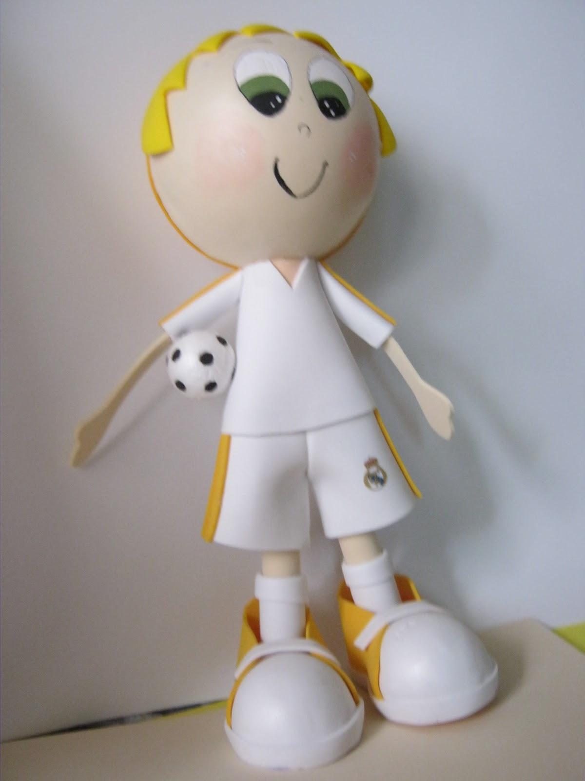 muñecos futbolistas real madrid foamy goma eva