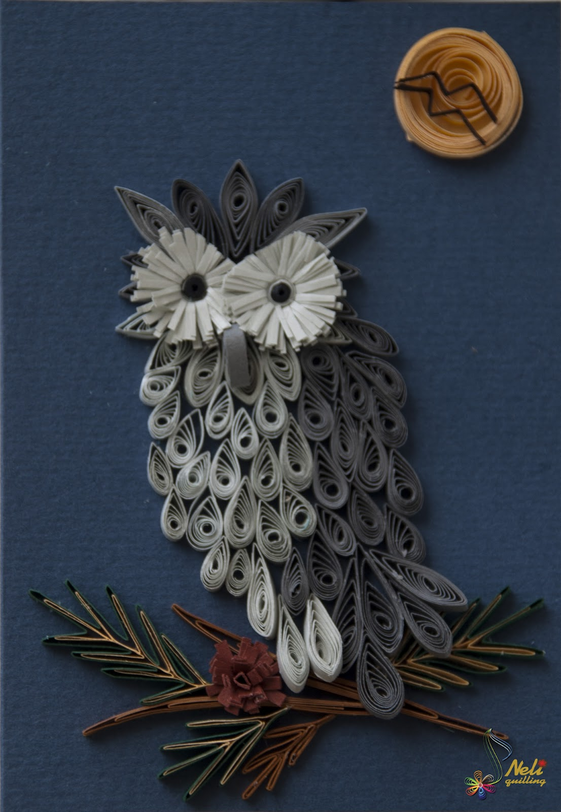 Quilled owl quilling for Paper quilling paper