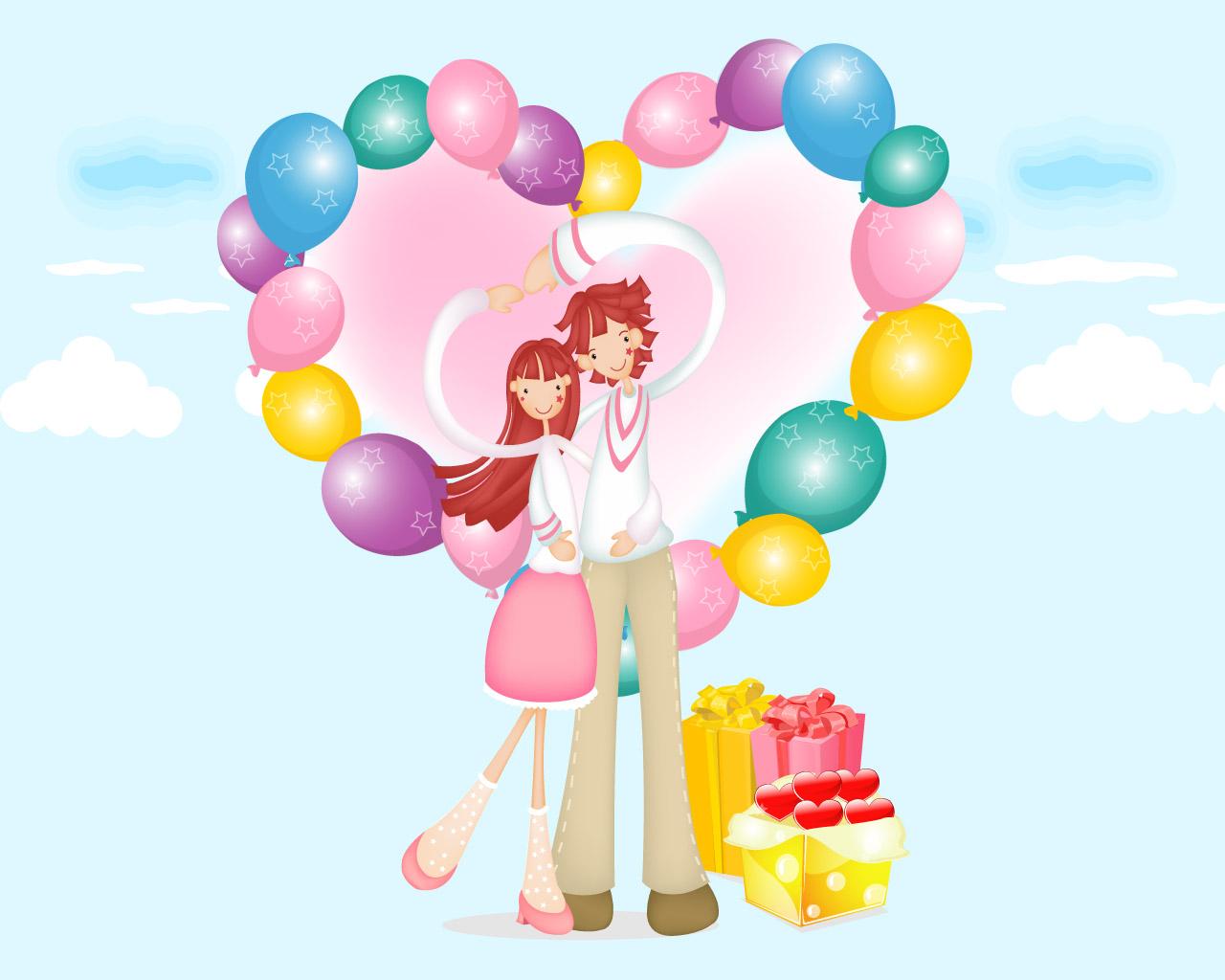 Gambar Kartun Romantis Lucu