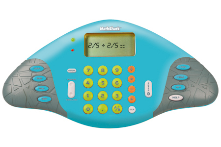 Math Shark handheld game
