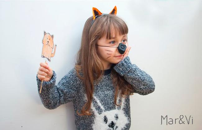 Especial Halloween: Mascaras de animales hechas con cartón de huevo