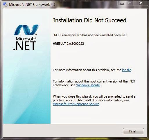 Inatallation Did Not Succeed( Instalação Mal Sucedida ) FrameWork 4.5    Solução   Fix
