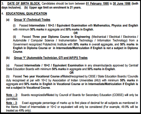 Indian airforce x group application form 2013