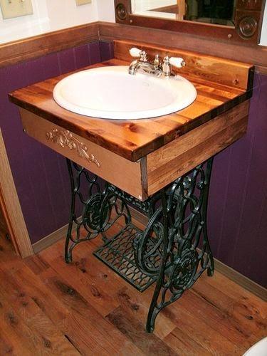 10 id ias com p s de m quina de costuras decora o e for Sketchup bathroom sink