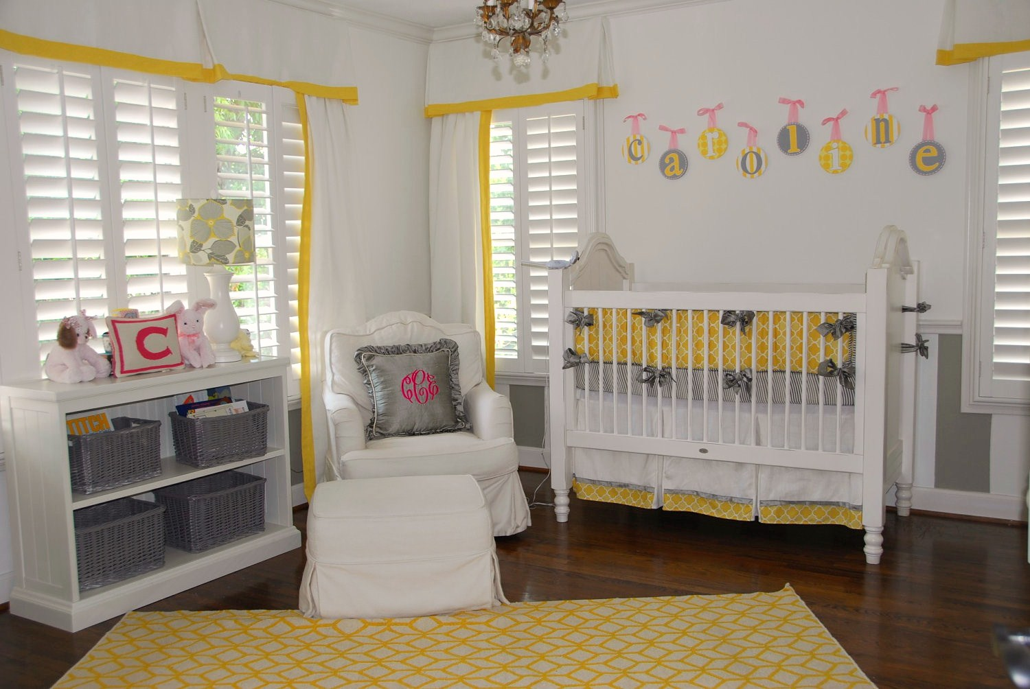 The hallam family baby room ideas - Grey and yellow room ...