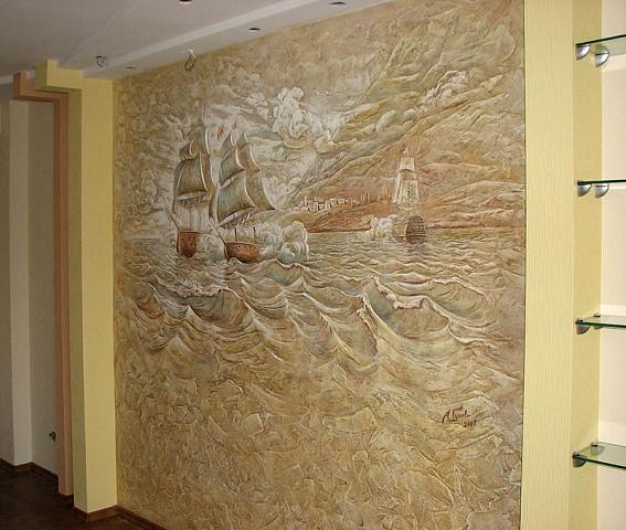 Рельефные стены своими руками фото