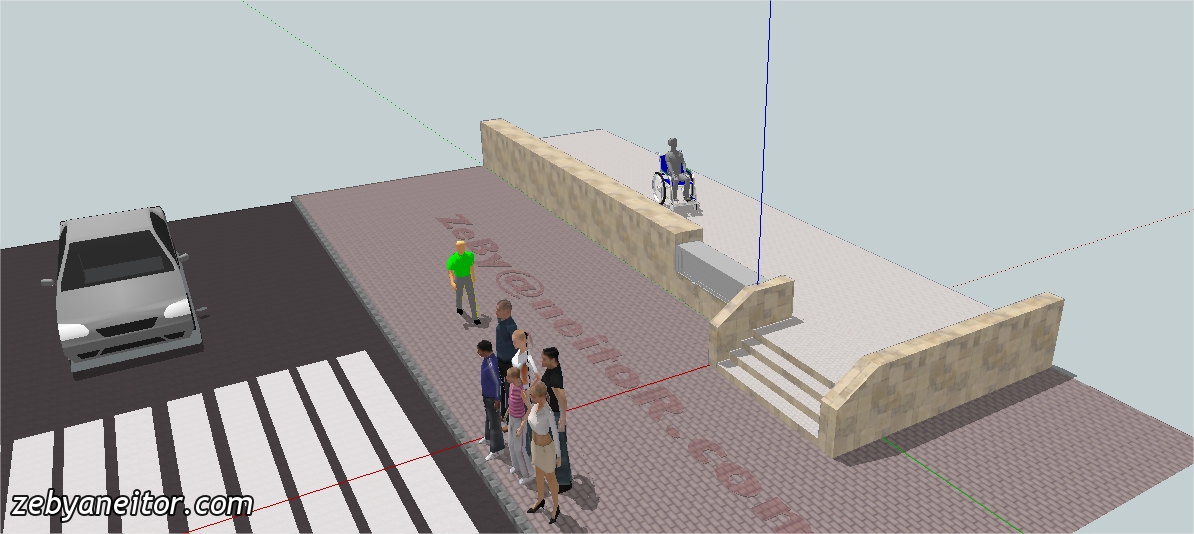 Idea Rampa Para Discapacitados Retr Ctil Con Retenci N De