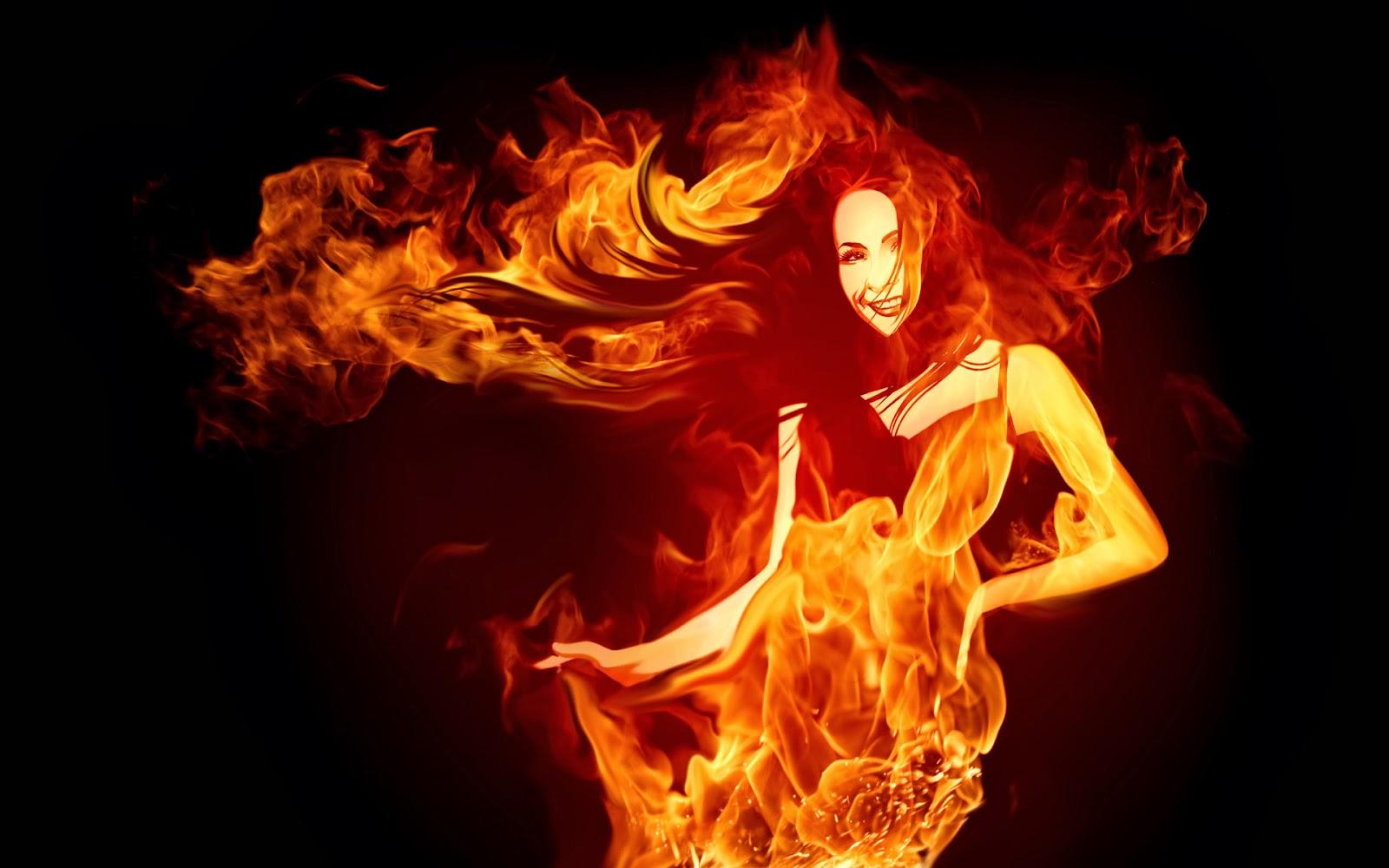 Fire lady Wallpaper