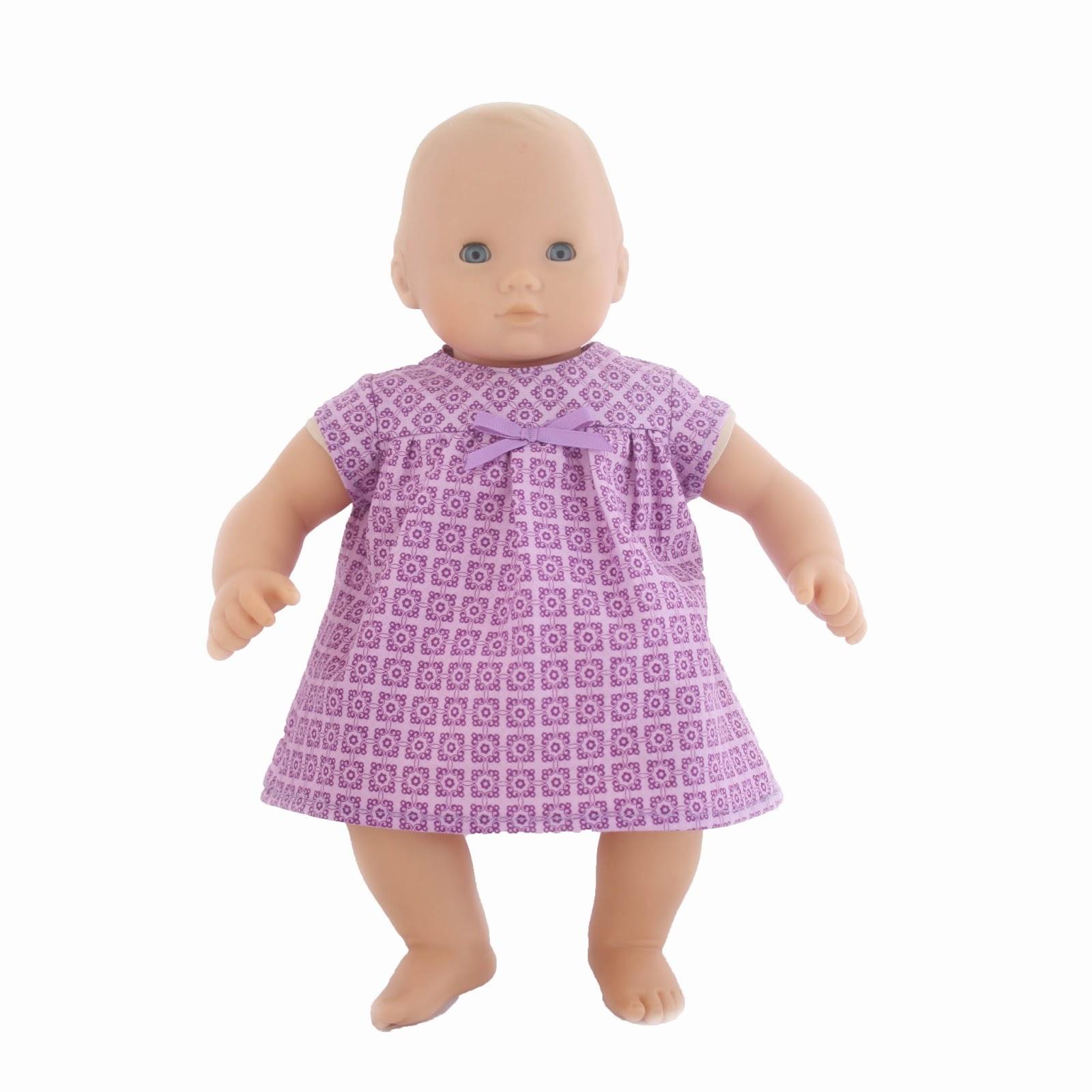 Little Abbee Ellie Doll Dress Sewing Pattern