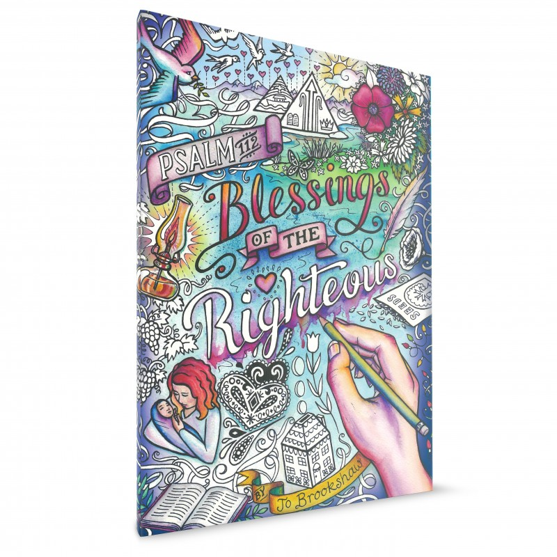 Blessing of the Righteous Colouring Book $10AUD