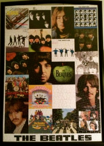 collage_the_beatles_1000_parça_educa_puzzle_çerçeve