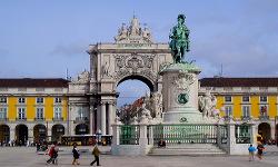 Plaza del Comercio y estatua de José I - Lisboa