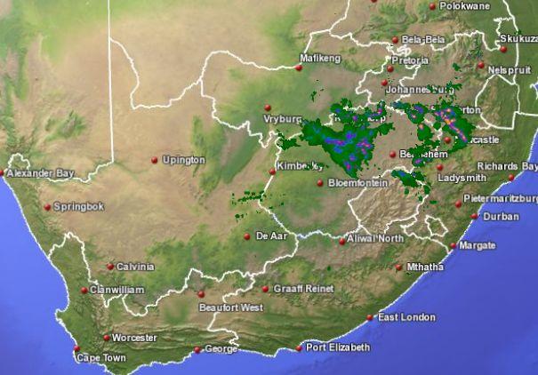 Sa weather and disaster information service south africa sa sa storm radar map 30 september 2011 11h59 sast gumiabroncs Images
