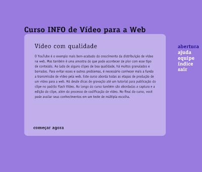 CURSO INFO DE VÍDEO PARA A WEB