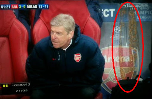 Someone vomited on Arsenal bench