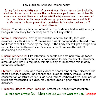 article of nutrition for health how nutrition influence lifelong health