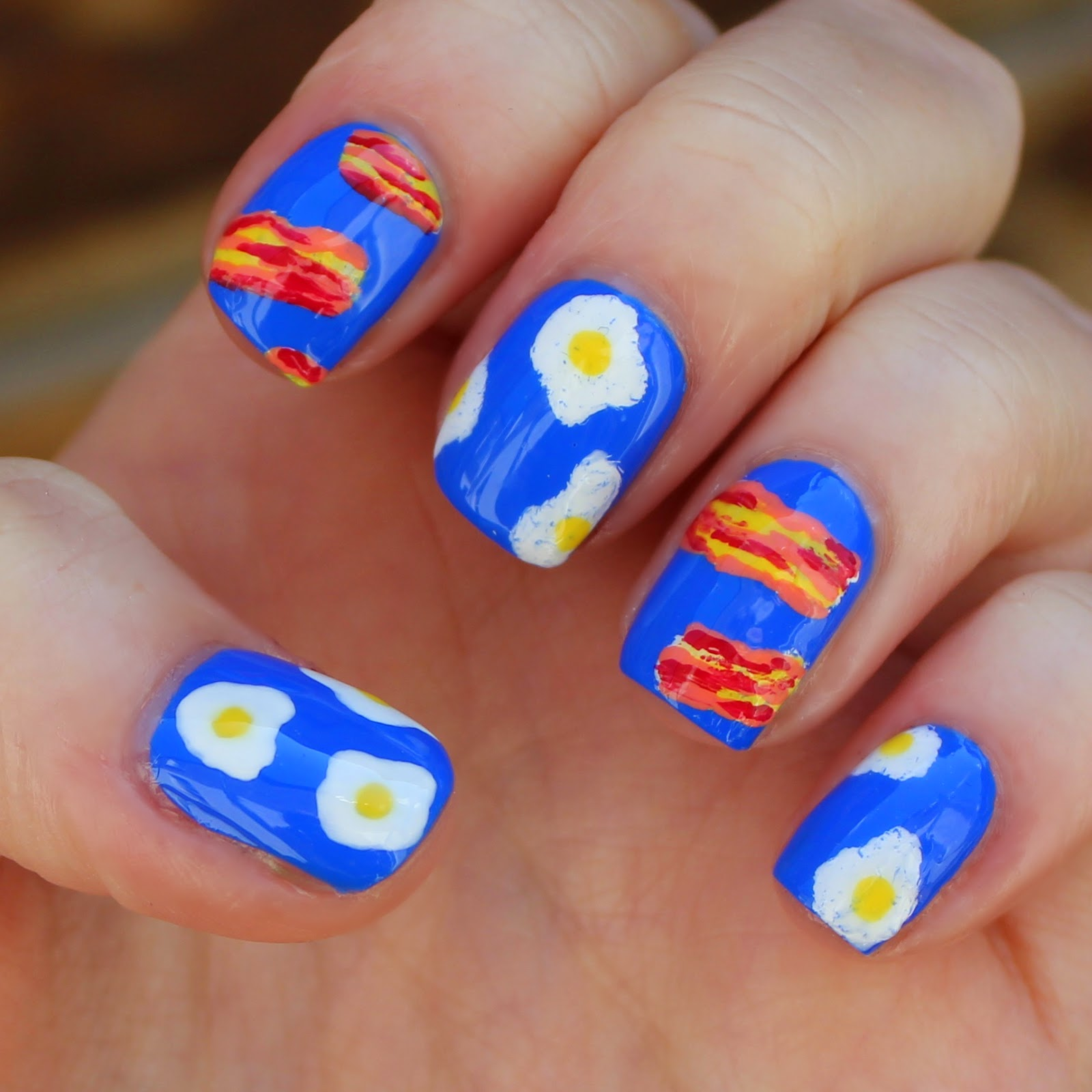 bacon nail art