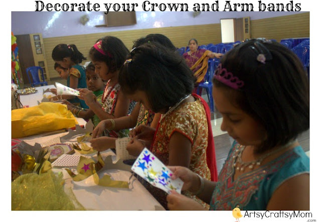 Indian mythological party DIY crown