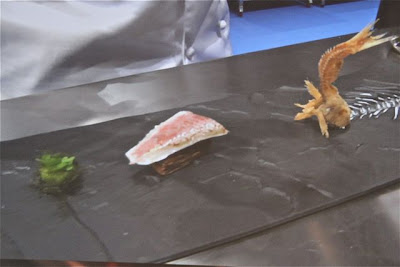 Blog Esteban Capdevila, salmonete de Joan Roca en gastronomika 2012