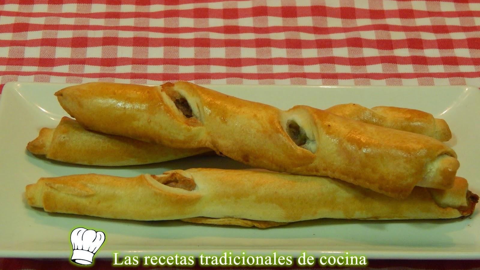 Flautas rellenas de anchoa