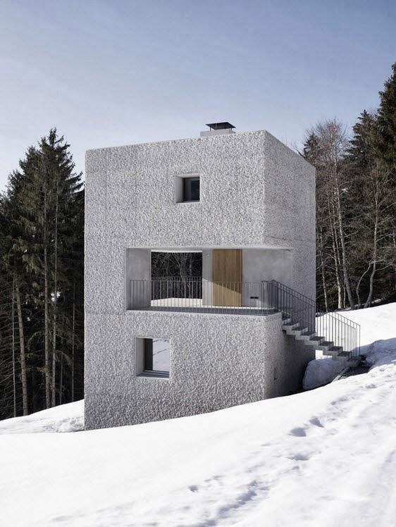 peque a casa en forma de cubo para climas frios en la
