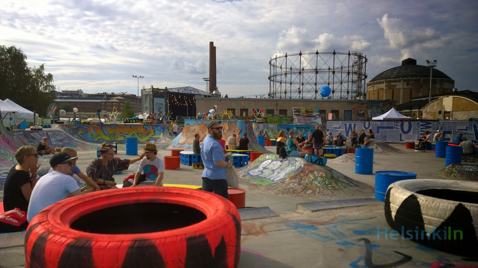 Skater chill out area at Flow 2014