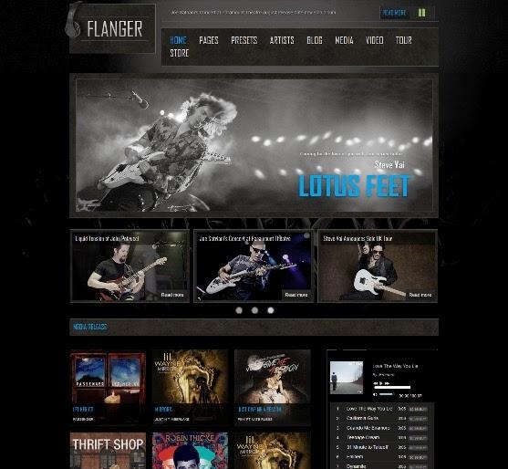 FLANGER Responsive Joomla Music & Bands Template
