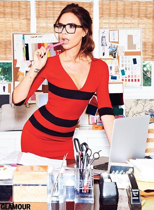 Victoria Beckham, Mrs Beckham, Vic beck, Fashion, Model, Glamour, Glamour magazine, Glamour magazine September, photoshoot, her fashion show